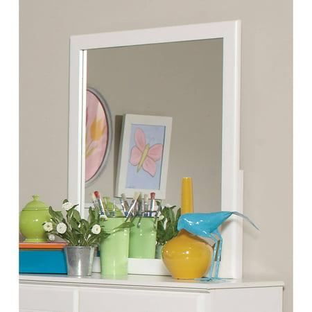 Coaster Company Ashton Mirror, White