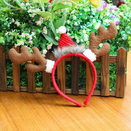 Micelec Kids Adult Reindeer Antlers Deer Horn Headband Christmas Party Costume Hair - Kids Reindeer Antlers