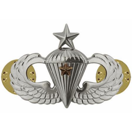 Army Senior Combat Parachute 1st Award Badge (Mirror Finish)