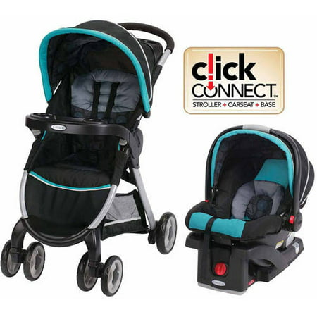 graco fastaction fold click connect travel system car seat stroller