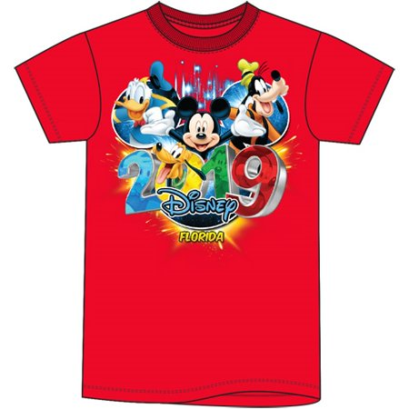 Disney Clearance Merchandise (Disney Toddler 2019 Dated Pop Out Mickey Goofy Donald Pluto (FL Namedrop) 2T Red)