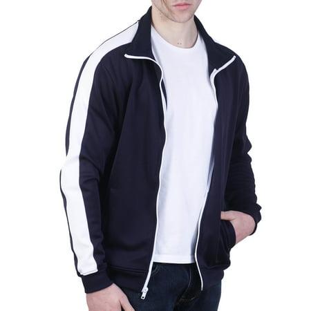 Black Track Jacket (Bleecker & Mercer Basic Color Block Track)