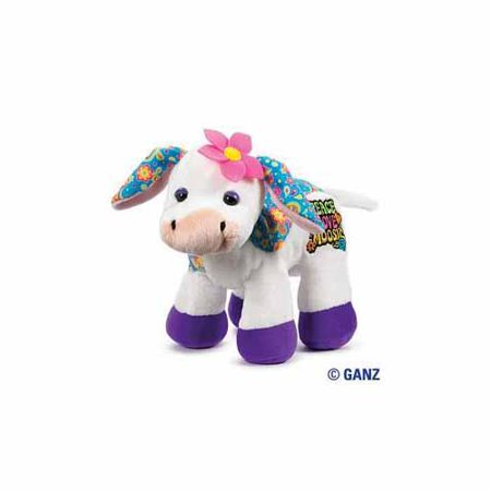 Ganz Webkinz Rockerz 8.5 inch Cow Stuffed Animal