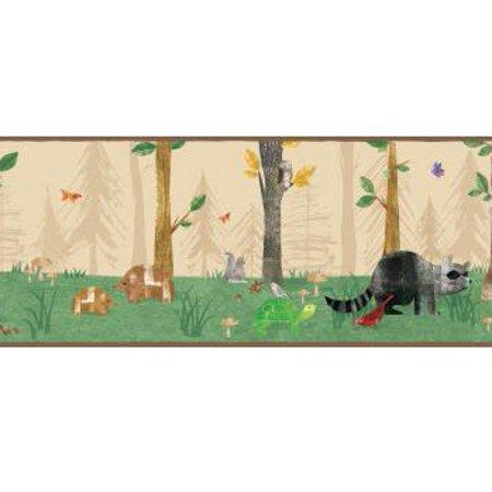 879468 Woodland Animals Wallpaper Border ()