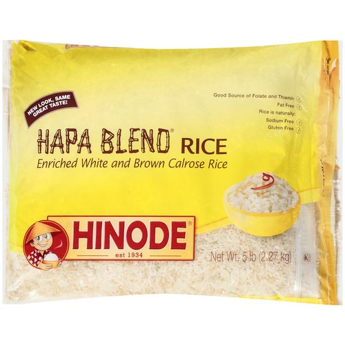 Hinode Hapa Blend A Blend Of White & Brown Calrose Rice Rice, 5 lb