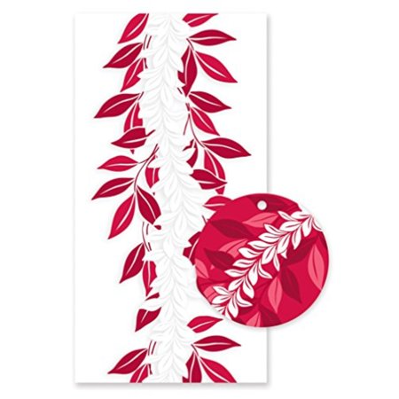 Hawaiian Candy Lei Kits 6 Pack Maile Red (Maile Lei)