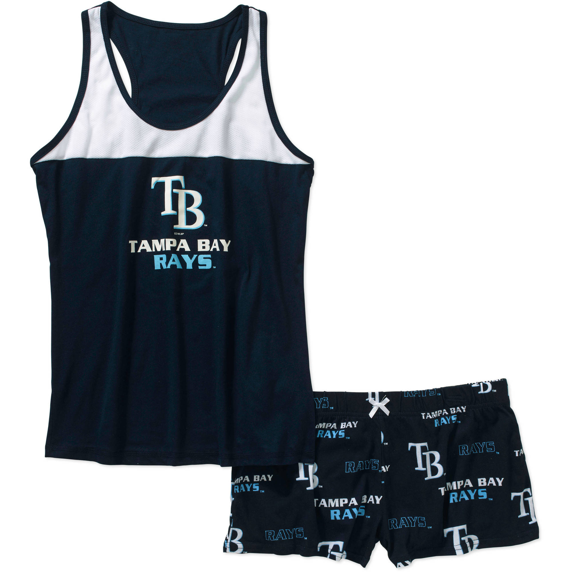 MLB Women's Tampa Bay Rays Tank Top and Shorts Set