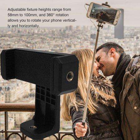 360°Rotation Phone Clipper Horizontal Vertical Bracket Smartphone Clip Holder - image 5 of 6