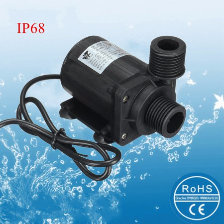 Mohoo Ultra Quiet Mini 12V Dc 5M 800L H Ip68 Brushless Motor Submersible Pool Water Pump