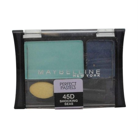 Pastel Shadow - Expert Wear Eye Shadow, Perfect Pastels, Shocking Seas 45d, 2 Ea, Maybelline New York Eye Shadow By Maybelline New York From USA