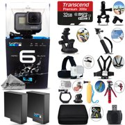 GoPro Hero 6 Black 4K Ultra HD Camera + Extra Battery & Much More! - 32GB Kit