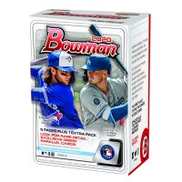2020 Topps Bowman MLB Baseball Trading Cards Blaster Box- Exclusive Autograph Cards and Parallels | Find Top 2020 Rookie Autographs| contains 6 12 Card Foil Packs