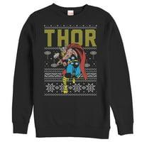 Marvel Thor Ugly Christmas Sweater Mens Graphic Sweatshirt