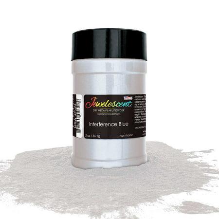U.S. Art Supply Jewelescent Interference Blue Mica Pearl Powder Pigment, 2oz (57g) Bottle - Non-Toxic Metallic Color Dye