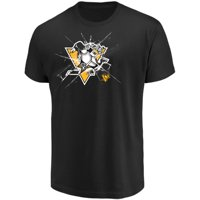 Men's Majestic Black Pittsburgh Penguins Poke Check T-Shirt