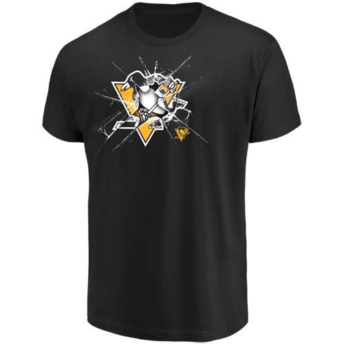 Men's Majestic Black Pittsburgh Penguins Poke Check T-Shirt