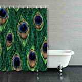 BSDHOME Peacock Feathers Design Seamless Pattern Shower Curtain Polyester Bathroom Curtain 60x72 inches - image 1 de 1