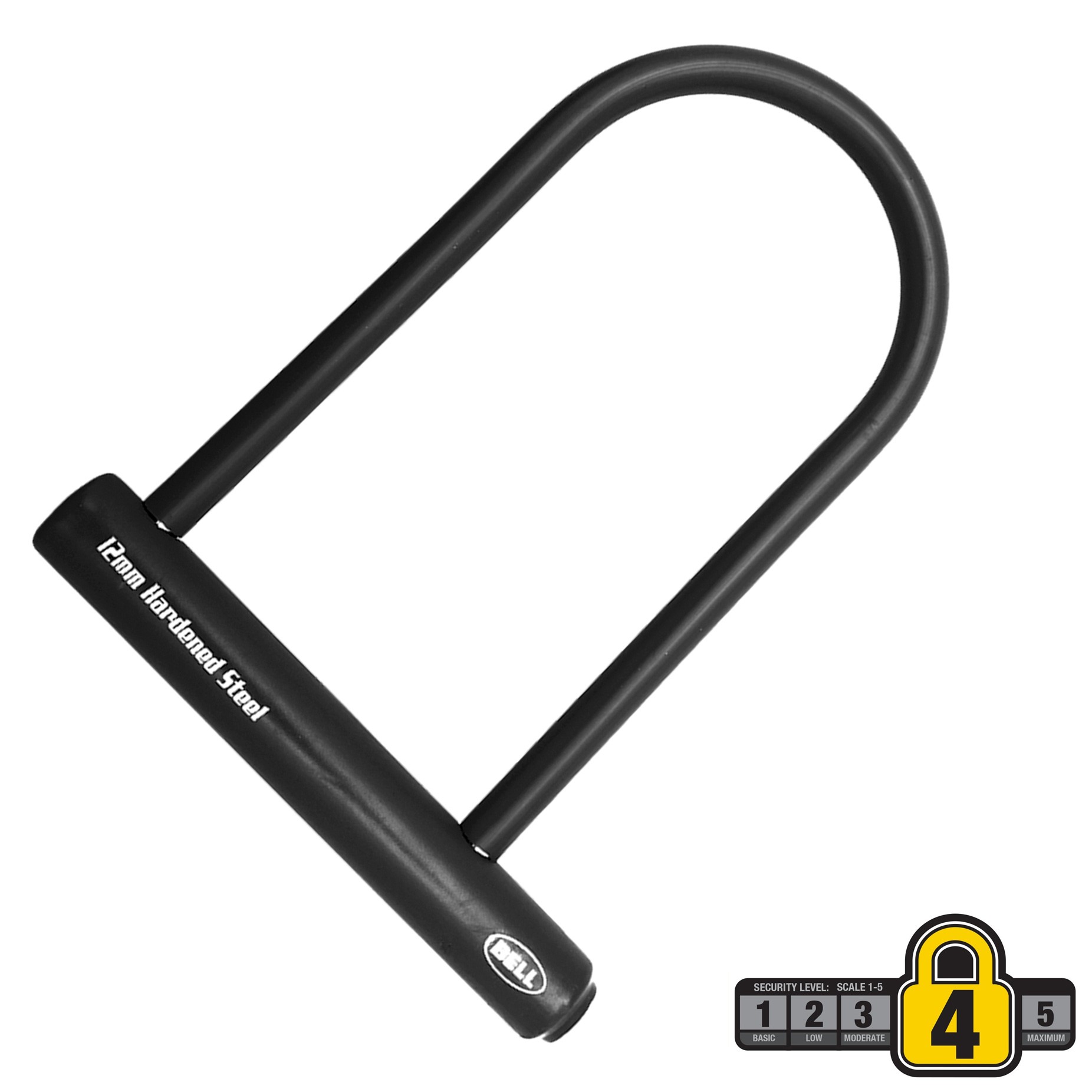"Bell Sports Catalyst 300 8"" Steel U-Lock Bicycle Lock, Security Level 4, Black"