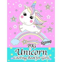 Big Unicorn Coloring Book for Girls Ages 2-5 (Paperback)