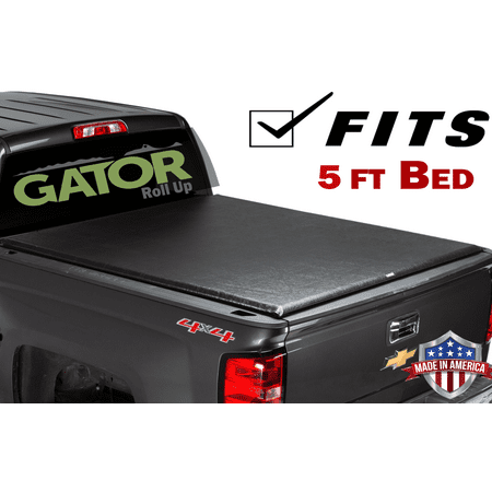 Gator ETX Roll-Up (fits) 2015-2019 Chevy Colorado Canyon 5 FT Bed Only Soft Roll Up Truck Bed Tonneau Cover Made in the USA 53112