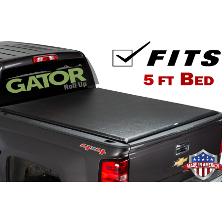Gator ETX Roll-Up (fits) 2015-2019 Chevy Colorado Canyon 5 FT Bed Only Soft Roll Up Truck Bed Tonneau Cover Made in the USA
