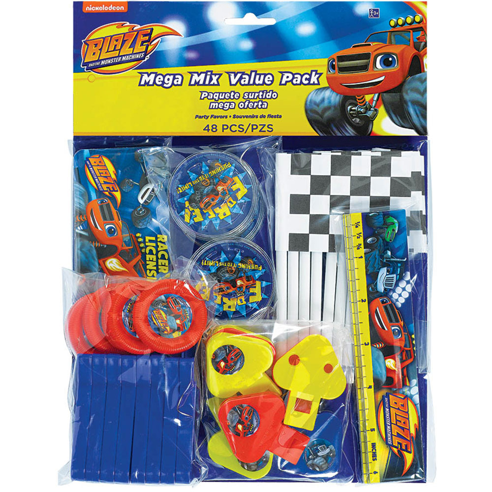 Blaze and the Monster Machines 48 Pc Mega Mix Value Pack Favors - Party Supplies