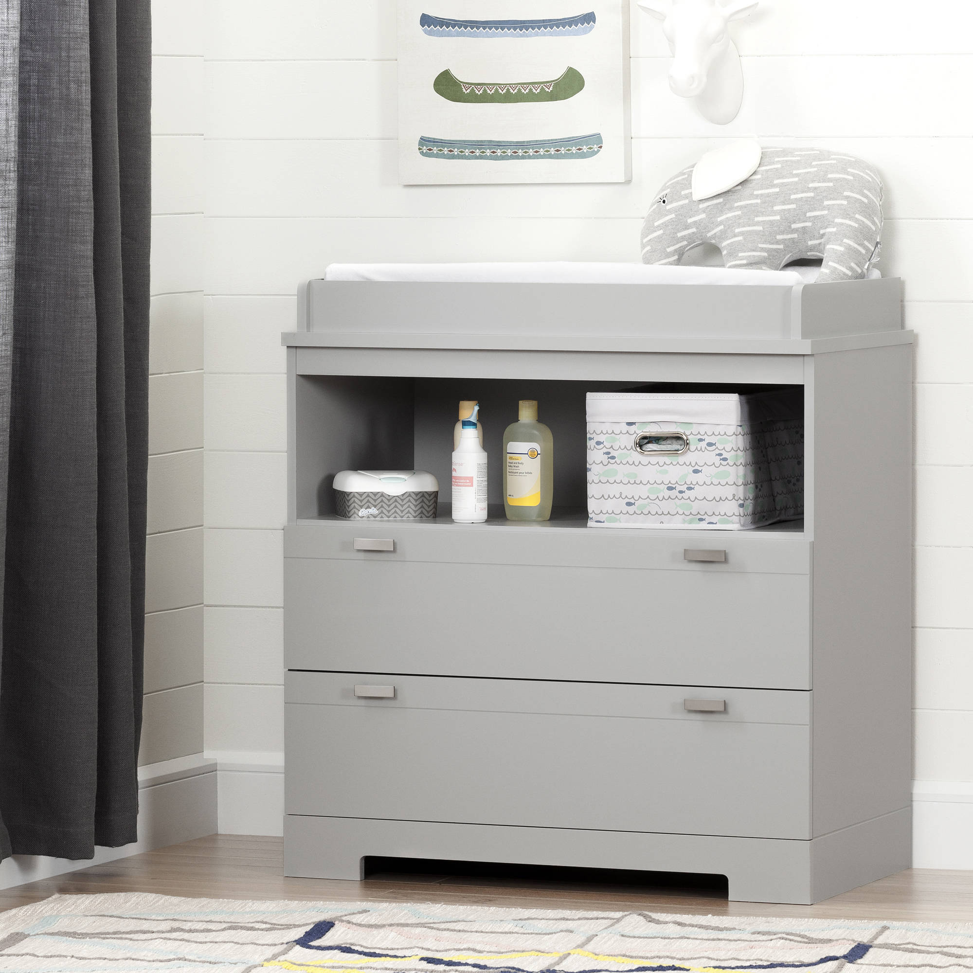 South Shore Reevo Changing Table with Storage, Multiple Finishes