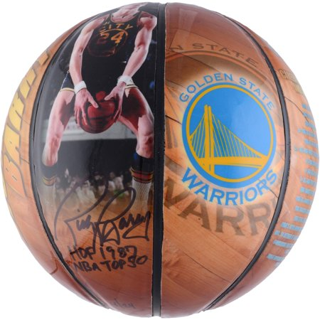 Rick Barry Golden State Warriors Autographed Photo Size 4 Basketball with Multiple Inscriptions - Fanatics Authentic Certified (Signed Autographed Photo Basketball)