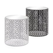 Imax Essentials Jazz Mirrored End Tables - Set of 2