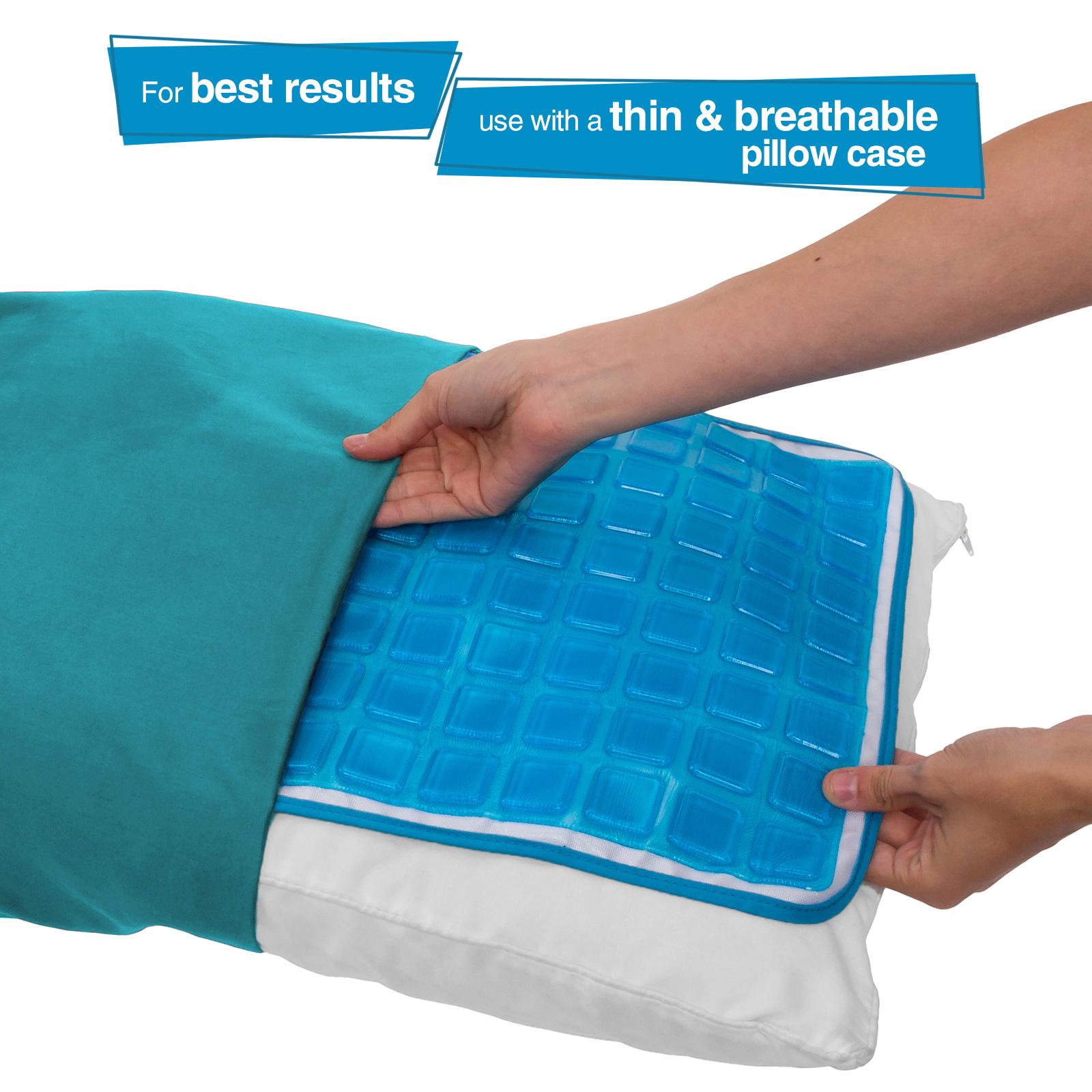 Pillow Gel Cool Mat Sleep Soft Pad Aid Hot Flash Fever Migraine Pain Slumber Pet