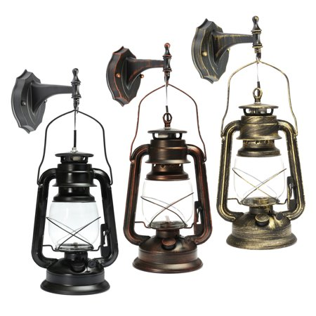 Antique Wall Lantern Outdoor Vintage E27 Wall Lamp Garden Light Lighting Fixture Fitting with Bulb For Bar Dining Living Room Cafe -