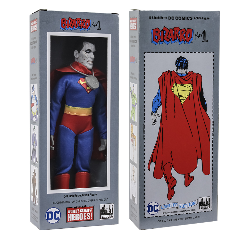 DC Comics Mego Style Boxed 8 Inch Action Figures: Bizarro