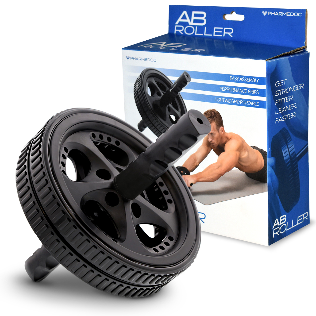 Ab Roller Wheel Ab Workout Equipment for Home Gym by PharMeDoc