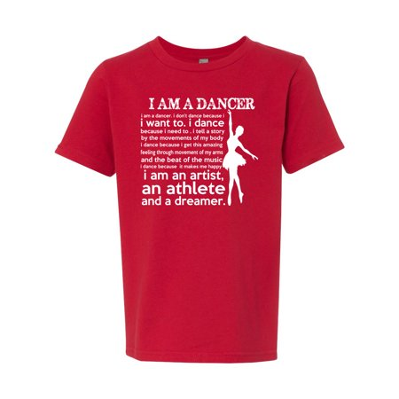 I Am A Dancer Girls Boys  Short Sleeve