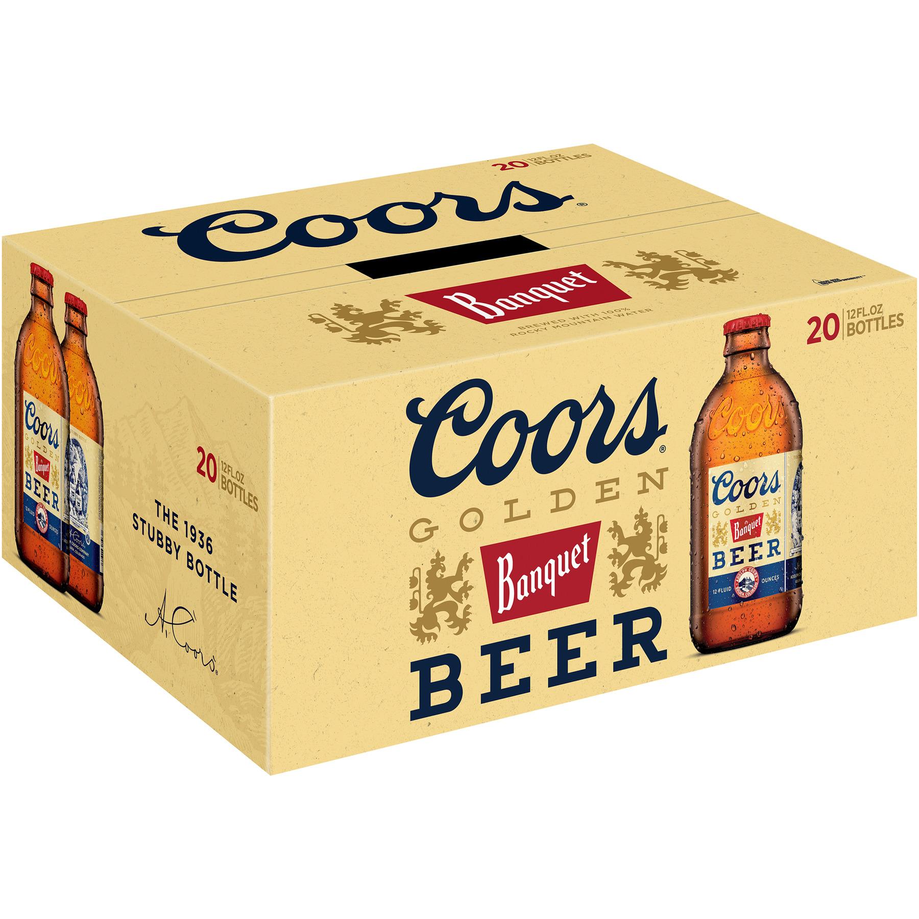 Coors Banquet Lager Beer, 20 Pack, 12 fl. oz. Glass Bottles, 5% ABV