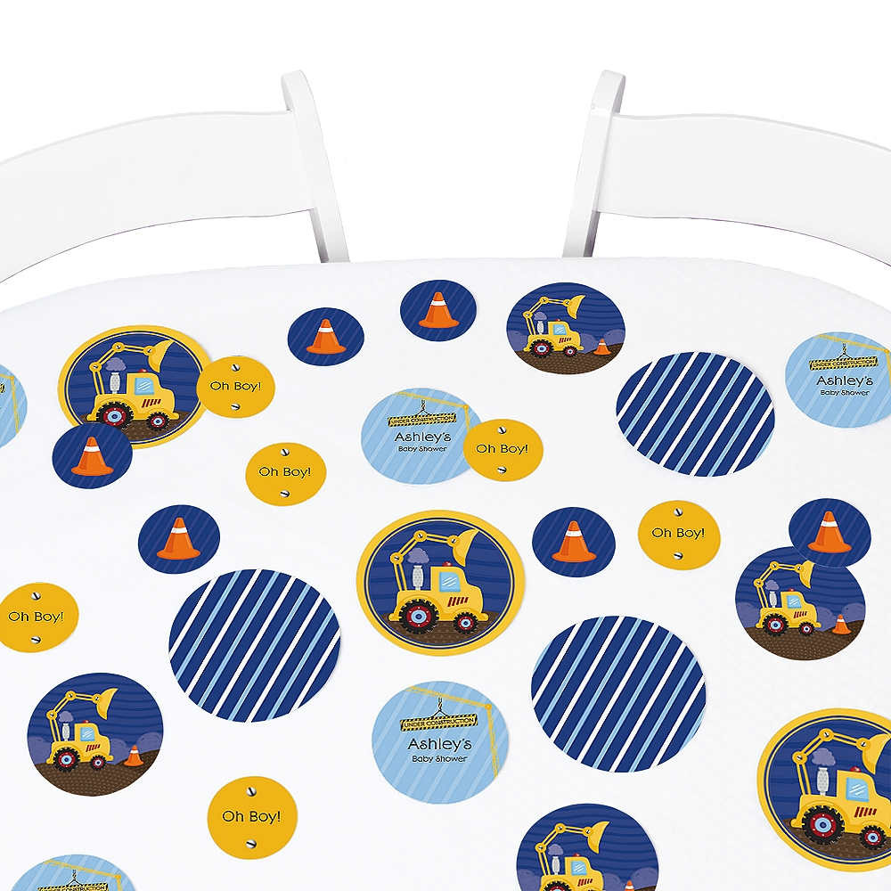 Construction Truck - Baby Shower or Birthday Party Table Confetti - 27 Count