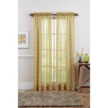 Better Homes And Gardens Leaves Semi Sheer Window Panel