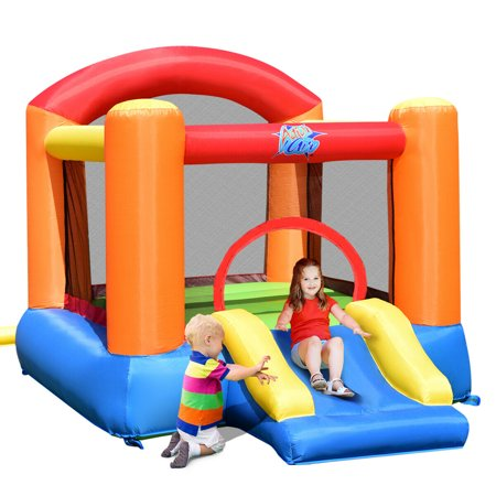 Costway Inflatable Bounce House Kids Slide Bouncer Jump Castle Playhouse w/ 580W Blower (Play Bouncer)