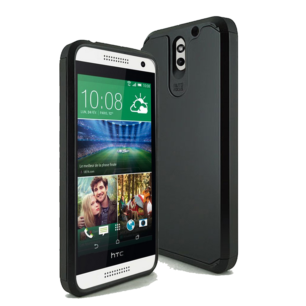 HTC Desire 610 TPU Slim Rugged Hard Case Cover Black