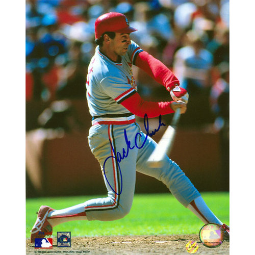 MLB - Jack Clark St. Louis Cardinals - Road Grey - Autographed 8x10 Photograph