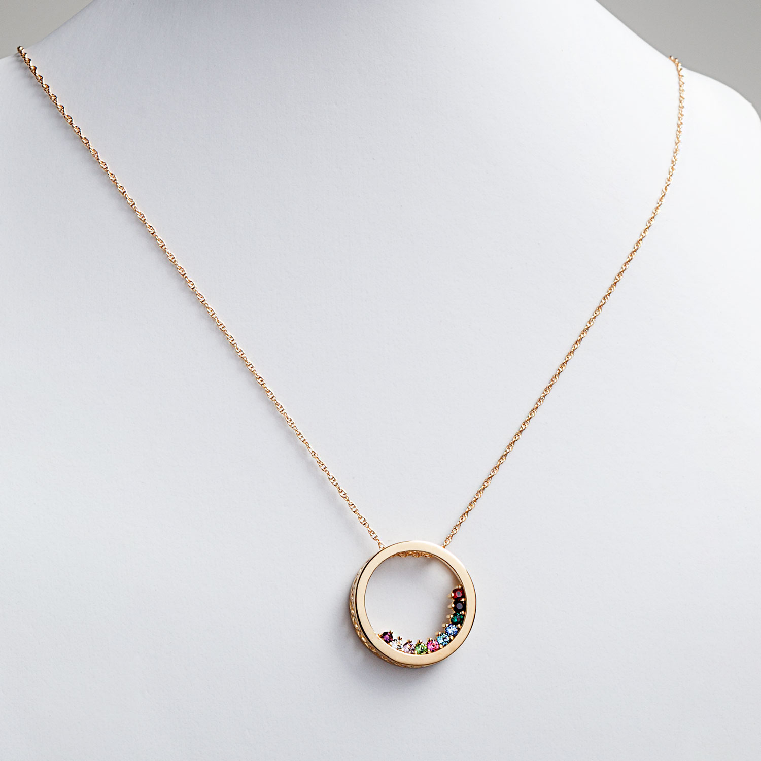 halo necklace birthstone oval stone