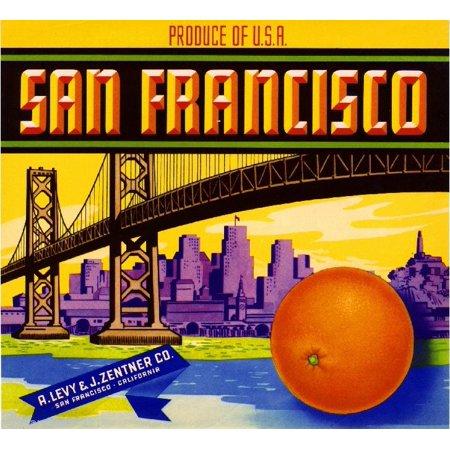 San Francisco California Orange Citrus Fruit Crate Box Label Art Print (Halloween Event San Francisco)