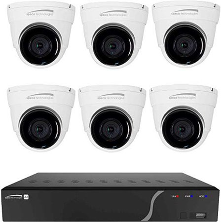 Speco Technologies ZIPK8T2 8 Channel 2 Tb Nvr And 6 Dome Camera Kit