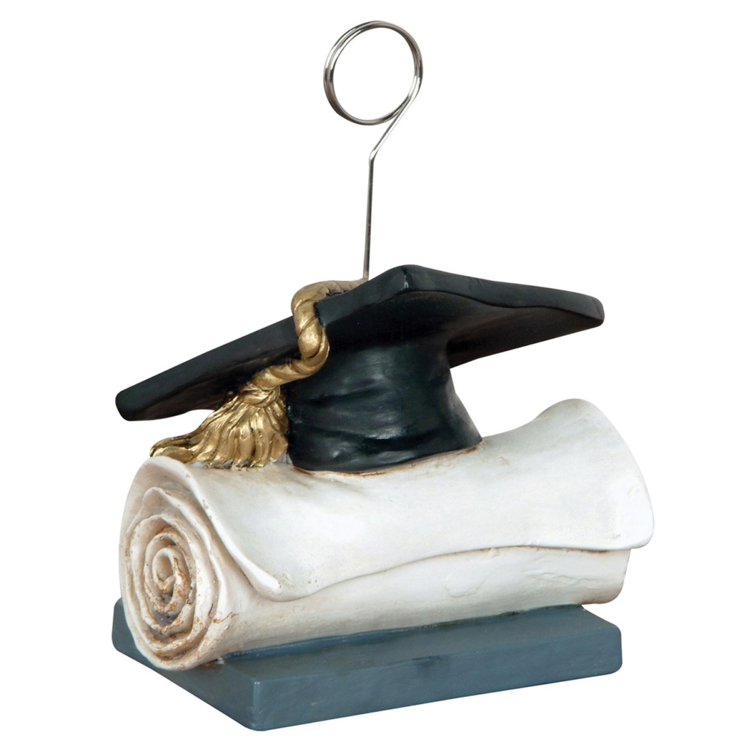 Pack of 6 Graduation Cap Photo or Balloon Holder Decorative Party Centerpieces 6 oz.