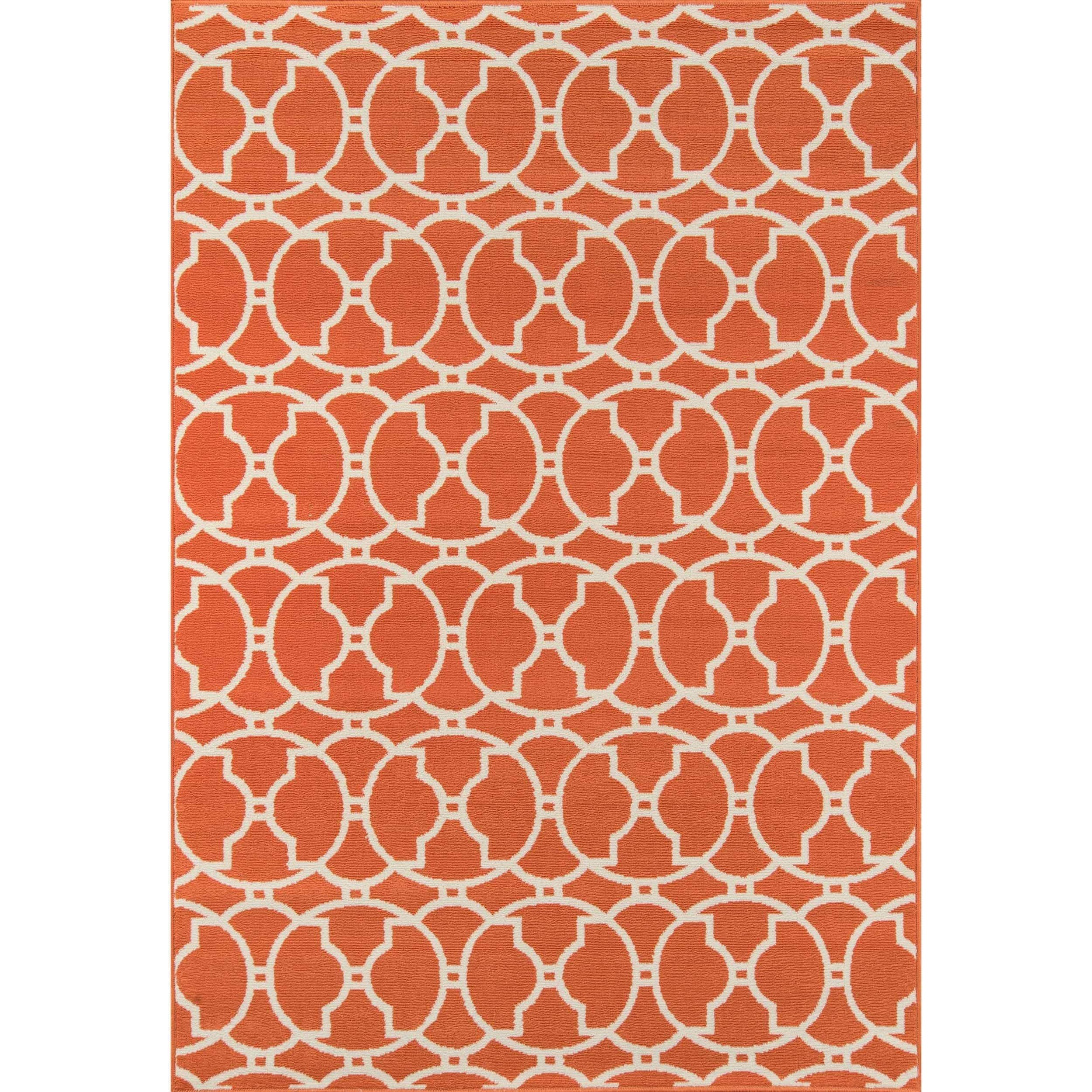 Momeni Moroccan Tile Orange Indoor/ Outdoor Rug (5'3 x 7'6)