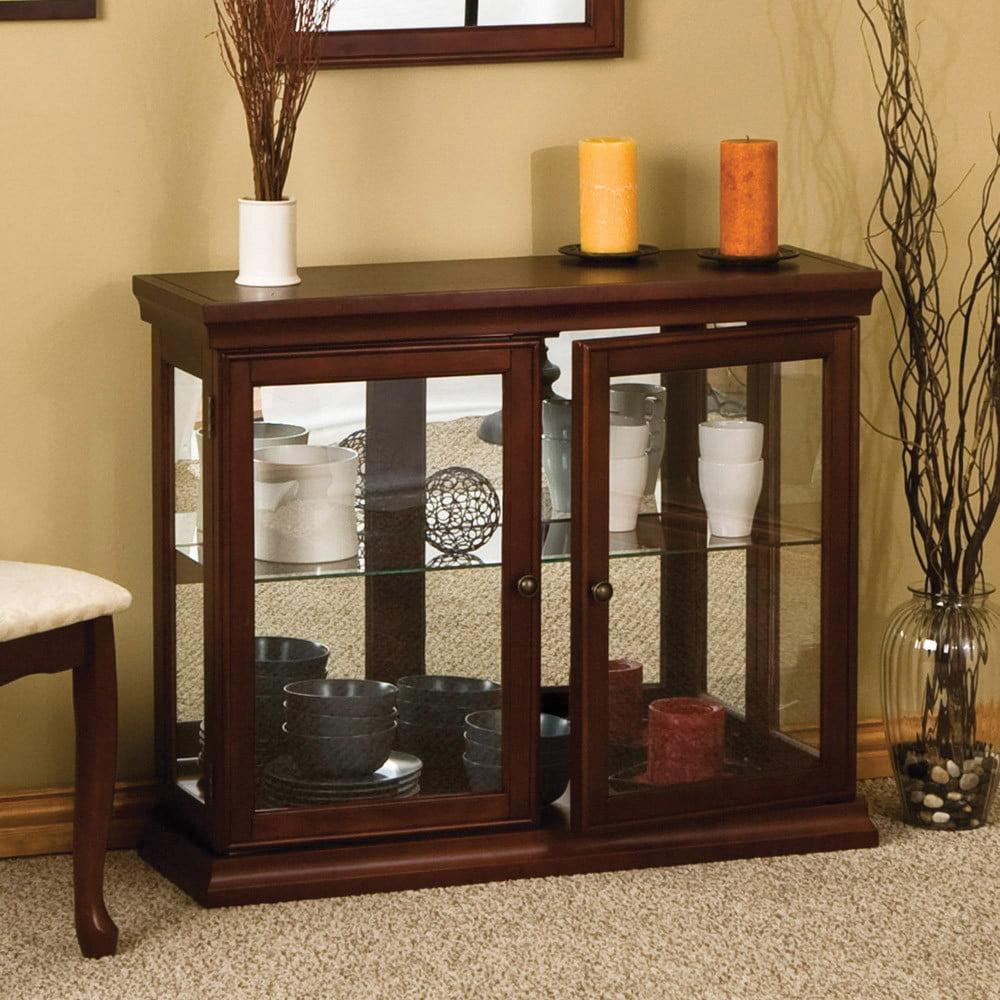 Wildon Home Console Curio Cabinet Walmart