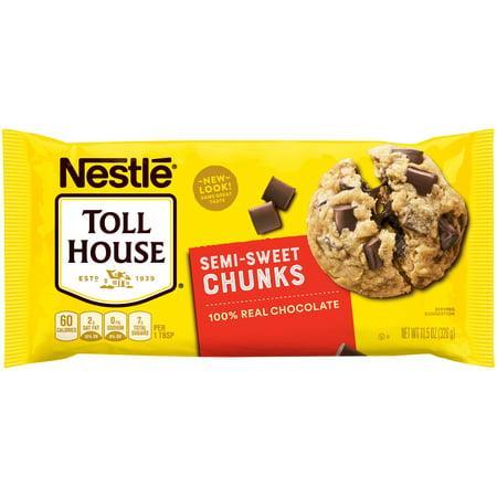 NESTLE TOLL HOUSE Semi-Sweet Chocolate Chunks 11.5 oz. (Toll House Semi Sweet Chocolate Chips Ingredients)