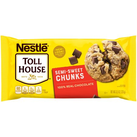 (3 Pack) NESTLE TOLL HOUSE Semi-Sweet Chocolate Chunks 11.5 oz (Nestle Chocolate Sugar)