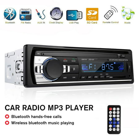 1 DIN New 12V Car Stereo FM Radio MP3 Audio Player Support Bluetooth Phone with USB/SD/AUX-IN MMC Port Car Electronics In-Dash