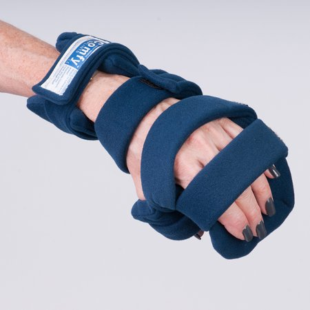 Comfy Splints Progressive Rest Hand W/ Five Straps (Finger Separator Included) - Adult Small, Right - 1 Each / Each - - Finger Strap